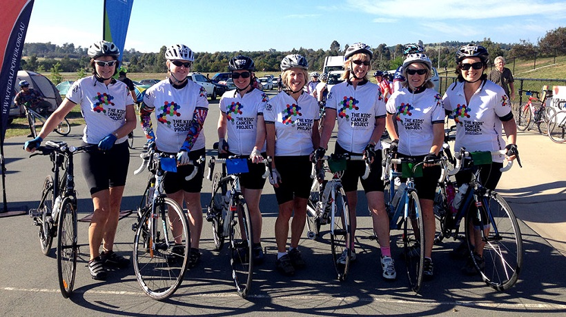 Cyclists tough it out for kids with cancer